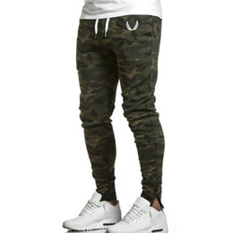 skinny trousers NZ - Wholesale-Men Gym Pants Casual Mens Sports Bottoms Cotton Fitness Workout Skinny Joggers Running Sweatpants Active Outdoor skinny trousers