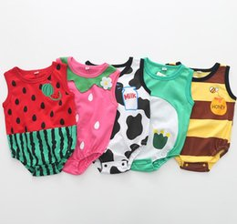 a5adf19bc24 Newborn Baby Cotton Rompers Unisex baby girl boy clothes Fruit strawberry  watermelon summer roupas jumpsuits overalls