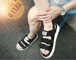 Vietnam White NZ - 2018 summer new south Korean version of Vietnam beach men's cool slippers, breathable black 100% with magic pasted men's sandals T298