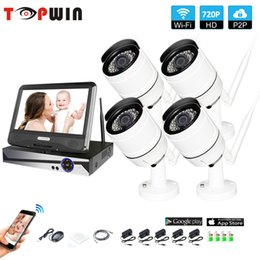 "Wireless Video Kit NZ - Wireless Surveillance System Network 10.1"" LCD Monitor NVR Recorder Wifi Kit 4CH 720P HD Video Inputs Security Camera"