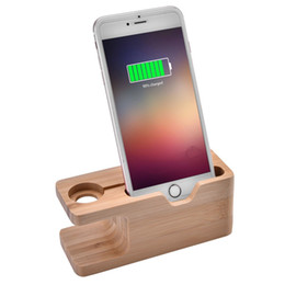 $enCountryForm.capitalKeyWord UK - Portable Bamboo Charging Dock Station Bracket Cradle Stand Holder for iWatch iPhone Samsung Huawei Xiaomi Redmi Mobile Phone