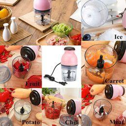 Mini processors online shopping - Eco Friendly Mini Electrical Fruits Vegetables Food Chopper Juicer Processor Meat Potato Mahsher Mixer Blender Slicer Kitchen Tools w
