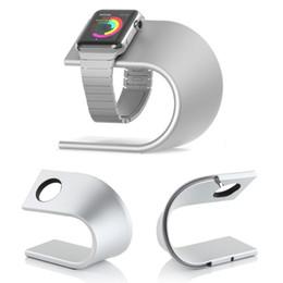 u holder 2019 - Fashion U-Shape Charging Dock Station Desk Cradle Holder for Apple watch 1   2 42mm 38mm Metal aluminum alloy Stand chea