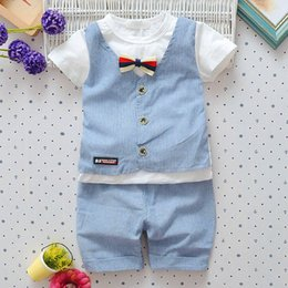 handsome boys hot 2019 - 2018 Hot Boys Summer Infant Newborn Cotton Clothes Sets Children Letter Short Sleeve T-shirt Shorts Pants Kids Handsome