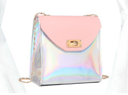 Discount laser beads - Ins super fire small bag female 2018 summer new wave chain laser package Korean version of the wild shoulder bag Messeng