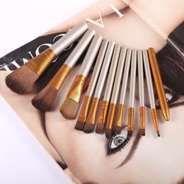 $enCountryForm.capitalKeyWord NZ - 12 pcs set Professional Cosmetics Makeup Brushes Set Soft Eyeshadow Powder Foundation Concealer Brush Face Make up Tools Kit