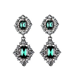 $enCountryForm.capitalKeyWord UK - New European Exaggeration Restore Ancient Ways Earring Green Crystal Glass Leaf Earrings Accessories Ear Nail