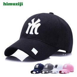 Cap Ny Baseball Snapback Australia - Black Adult Unisex Casual Baseball Caps Fashion Snapback Hats For Men Women Black Sport Gorras Ny My Cap