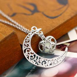 $enCountryForm.capitalKeyWord Australia - Brand new pendant necklaces Hollow Starry sky moon heart Night Light hearts Box Necklace model no. NE884