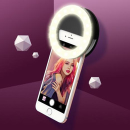 Wholesale Boxes Packaging Australia - Rechargeable Selfie Light Ring Portable Adjustable Brightness Led with Battery Enhancing Photography Efficient Four Color with Package Box