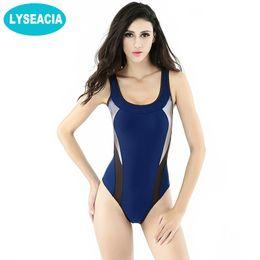 95297565e9a06 Chinese LYSEACIA Slim Girls Sports Swimsuits Women Low Back Monokini  Bathing Suit One Piece Swimwear Women