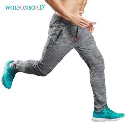 f704f92ce4dd WOLFONROAD Summer Thin Jogging Pants Men Elastic Breathable Sweat Pants  Running Fitness Sport Men Trousers Loose L-LX-001