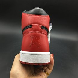 Shoes Kicks NZ - Air 1 High OG Banned Ban X 432001-001 1s I Kicks Men Basketball Sports Shoes Sneakers High Quality Trainers With Original Box