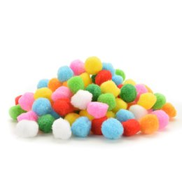 $enCountryForm.capitalKeyWord UK - 100 Pcs Mixed Colour Assorted Mini Fluffy Pompoms Pom Poms Ball Clothes Yarn Decor DIY Kids Craft Toys 20mm 30mm 40mm