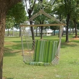 Jardin Patio Porche Suspendus Coton Corde Swing Chair Siège Hamac Balançoire En Bois Extérieur Indoor Balançoire Seat Chair B03-6