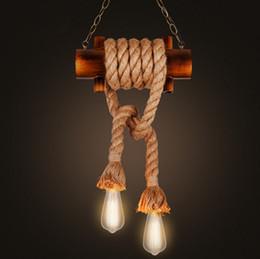$enCountryForm.capitalKeyWord Australia - 2018 Special Offer Luminaria Lamparas American Vintage Originality Bamboo Rope Restaurant Study Bar Pendant Light Free Shipping