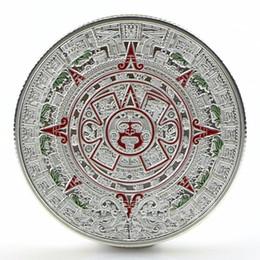 2018 folk art plates Wholesale- 1x Gold Sliver Plated Mayan Aztec Prophecy Calendar Commemorative Coin  sc 1 st  DHgate.com & Discount Folk Art Plates | 2018 Folk Art Plates on Sale at DHgate.com