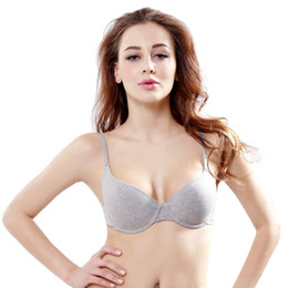 10f885bc2c9038 Plus size b cuP bras online shopping - Women Comfortable Cotton Underwear  Push Up Bra Gray