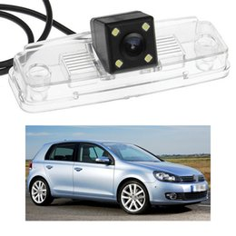 golf cameras NZ - New 4 LED Car Rear View Camera Reverse Backup CCD fit for Volkswagen Golf MK6 2009-2012 10 11