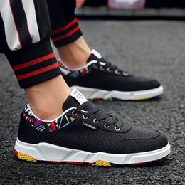 Spring Fall Canvas Shoes Australia - New Style Outdoor men sports walking shoes For adult comfortable Breathable spring fall lace-up flat jogging male sneakers