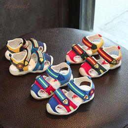 Kids Shoes Boy Summer NZ - 2018 summer shoes kids fashion Patchwork Children Light Luminous Casual Sandals Shoes JAN9