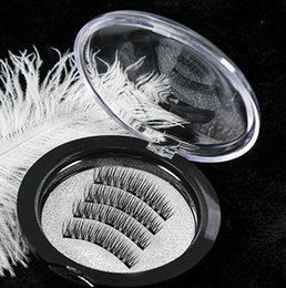 transparent strip false eyelashes NZ - NEW EURO Magnetic eyelashes with 3 magnets handmade 3D magnetic lashes natural false eyelashes magnet lashes Full Strip Fake Eyelashes lash