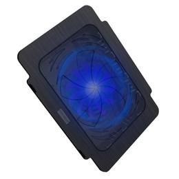 Бесплатная доставка USB супер ультра тонкий вентилятор ноутбук охлаждения Pad ноутбук радиатор - черный на Распродаже