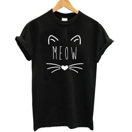$enCountryForm.capitalKeyWord Canada - Wholesale-2017 Women T-shirt Short Sleeve BEST FRIEND Girls T Shirt 2017 Hot Sale Lovely Cat Print Cotton Tops Tshirt