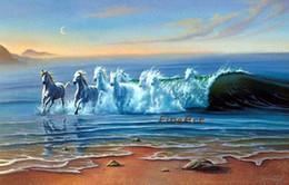 $enCountryForm.capitalKeyWord Australia - hand-painted oil wall art horse running oil painting animal canvas art modern office wall decor unique gifts Kungfu Art