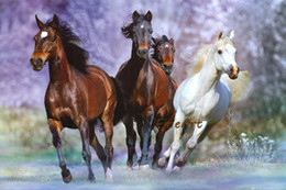 $enCountryForm.capitalKeyWord Australia - 100% hand-painted good quality discount horse running canvas painting animal wall decor on canvas fine art paintings hanging wall art