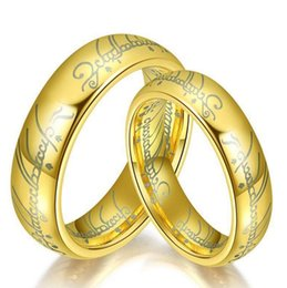 Discount Lord Rings Wedding Bands High Quality Stainless Steel One Ring Of  Power Gold The Lord