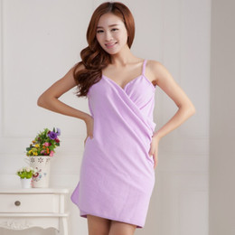 Wholesale new sexy body dresses for sale – plus size 5 Colors New sexy Magic Bath Towels Lady Girls Kids SPA Shower Towel Fast Drying Body Wrap Bathrobe Beach Dress Wearable Magic Towel