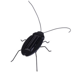 Wholesale Funny Solar Insect Solar cockroach Solar Cricket Educational Toy birthday gift with OPP bag