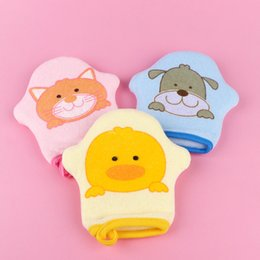 baby sponge towel bath NZ - Super Soft Cotton Baby Bath Shower Brush Cute Cartoon Animal Modeling Sponge Powder Rubbing Towel Bath Ball Brush For Baby