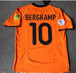 Holland Football Shirt NZ - 94 96 00 Retro Soccer Jersey Netherlands  Bergkamp 1994 1996 2000 2617eb246