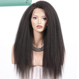$enCountryForm.capitalKeyWord Australia - Pretty discount aaaaaaa 100% unprocessed remy virgin human hair long natural color yaki straight full lace cap wig for lady