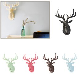 $enCountryForm.capitalKeyWord NZ - Excellent 3D Puzzle Wooden DIY Model Wall Hanging Deer Head Elk Wood Animal Wildlife Sculpture Figurines Gift Crafts Home Decor
