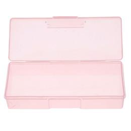 Block Supplies Australia - 19 x 7.5 x 3.8 cm Plastic Transparent Nail Supplies Tools Storage Box Buffer Files Push Grinding Blocks Organizer Case New