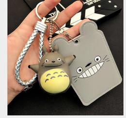 $enCountryForm.capitalKeyWord Australia - Cartoon student bus card set key chain cute KT long cat couple bag key ring pendant