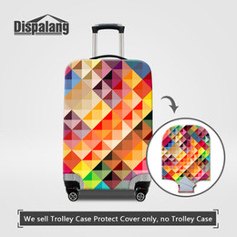 feee2d7ac Personalized 3D Geometric Patterns Elastic Luggage Protective Cover For 18- 30 Inch Children Fashion Trolley Suitcase Waterproof Dust Covers
