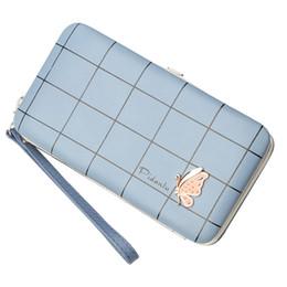 Brown Plaid Wallet NZ - ETONTECK 2018 FashionWomen Wallet Purse Female Long Wallet with Plaid Ladies Pouch Handbag for Women Coin Purse Card Holders