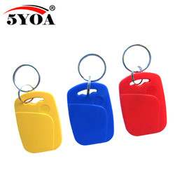 China 50pcs IC+ID UID Rewritable Composite Key Tags Keyfob Dual Chip Frequency RFID 125KHZ T5577 EM4305+13.56MHZ Changeable Writable suppliers