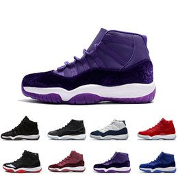 cheap purple shoes for men UK - 11S basketball shoes Cheap 11 Chicago Gym Red 11s Midnight Navy Mens sport Shoes For Men Women Space sport 45 Legend Blue Sneakers