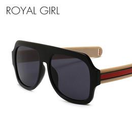 58e31c5cc1 ROYAL GIRL Oversize Square Sunglasses Mujeres 2018 Fashion Flat Top Sun  Glasses Men Diseñador de la marca Big Frame UV400 SS767