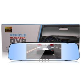 Dual Cameras HD 1080P X10 Car DVR Vehicle Dash Camera Video Recorder Tachograph Touchscreen Rear-view Mirror Car DVRs on Sale