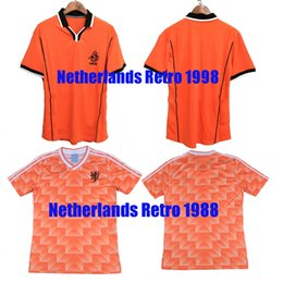 Holland Football Shirt NZ - 1988 1998 Soccer Jersey Retro Netherlands Van  Basten Gullit 98 99 4c61e4c83