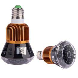Ir Light Surveillance UK - Wireless wifi network mini camera LED bulb light IP camera HD 1080P IR night vision Remote monitoring Home Security surveillance CCTV camera
