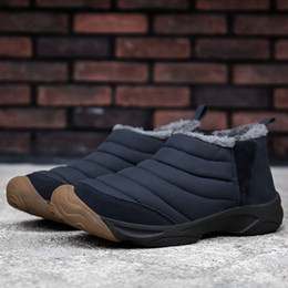 $enCountryForm.capitalKeyWord NZ - Mens Snow Boots Women Winter Anti-Slip Ankle Booties Waterproof Couples Slip On Warm Fur Lined Sneaker Side Elastic Band