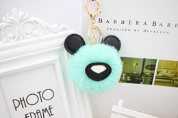$enCountryForm.capitalKeyWord Canada - Bear hair ball key ring pendant Cute plush doll bag pendant gift small gift