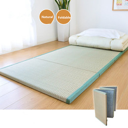 Pliage Japonais Traditionnel Tatami Mat Matelas Rectangle Grand Tapis Pliable De Plancher En Paille Pour Yoga Dormir Tatami Plancher en Solde